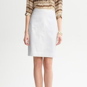 White Banana Republic Pencil Skirt